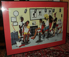 """Large Annie Lee Framed in Glass Lithograph Poster """"36 x """"25.50"""