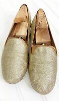 STUART WEITZMAN Women's Flats Gold Glitter Loafer Size 6M