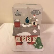 Partylite The Schoolhouse Christmas Village Tealight Candle Holder P0427 w/ Box