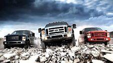 "Ford Pickup Trucks- 42"" x 24"" LARGE WALL POSTER PRINT NEW."