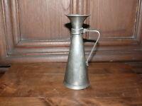 Rarität Designer Zinn Vase Art Deco ca. 1925 Frankreich gemarkt J.A.G. Wappen