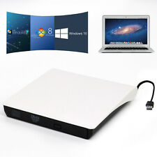 Slim External USB 3.0 DVD ROM CD Writer Drive Burner Reader Player For Laptop PC