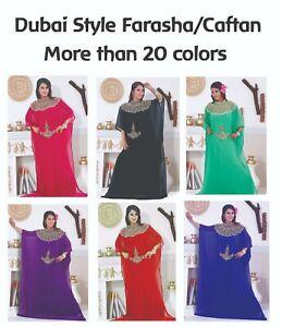 Dubai Style Women Kaftan Caftan Farasha Abaya Maxi Dress Kimono Beach Cover Up C