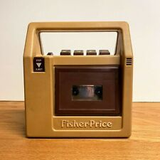Vintage Fisher-Price Tape Recorder Player Brown #826 1980 Portable Cassette