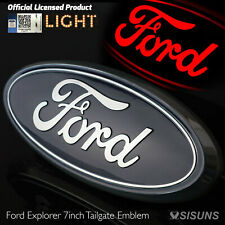 Tailgate Emblem Compatible with Ford SUV Trucks 7 inch LED Light Up Brake Light