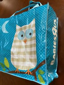 NEW Large Toys R Us/Babies R Us Owl Bag Reusable Blue