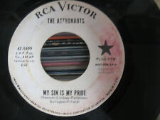 "THE ASTRONAUTS ""My Sin Is My Pride/Almost Grown"" 45 DJ Copy RCA Victor"