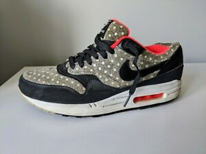 AIR MAX 1 Leather Premium POLKA DOT Anthracite, black and Granite ** size 10