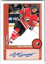 2012-13 O-PEE-CHEE OPC TEAM CANADA SIGNATURES AUTOGRAPH #TC-AH ADAM HENRIQUE !!