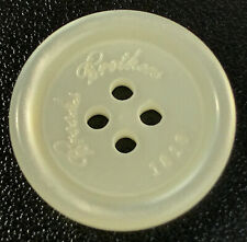 """Brooks Brothers """"1818"""" Plastic White Main Front Replacement Button .90"""""""