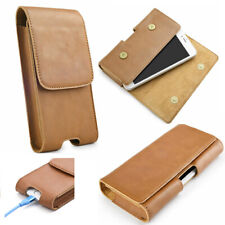 Genuine Leather Men's Belt Clip Cell Phone Pouch Case 5.5inch Universal Holster