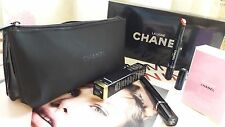 CHANEL Beauty Makeup Bag Pouch Trousse Polyester&Patent Black Double Sided Bags