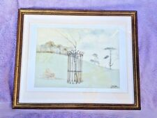 Watercolour painting signed John Skelton titled Tree Guards Glyndebourne  1982