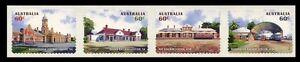 2013 Historic Railway Stations - Peel & Stick Set of 4 Stamps MUH Train