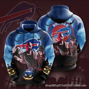 Buffalo Bills Men's Pullover Hoodies Hooded Sweatshirts Casual Jackets Fans Gift