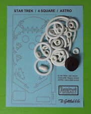 1971 Gottlieb Star Trek / 4 Square / Astro pinball rubber ring kit