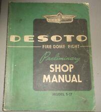 1952 De Soto Preliminary Maintenance Shop Manual S-17