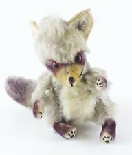 """Steiff? 6.5"""" Vintage Early Racoon, or Gray Fox? w/ Age & Blemishes"""
