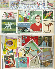 CHARITY STAMP PACKET FOOTBALL / SOCCER 30 STAMPS 0337