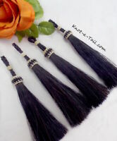 Horsehair tassel, Perfect bridle /tack, rich BLACK, horsehair tassel, loop end