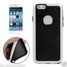 Coque tpu + contour plastique pour iphone 6 et 6S petits motifs cubes noir/blanc