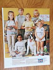 1968 Clorox Bleach Ad Pet Show St. Saint Bernard Dog & Children