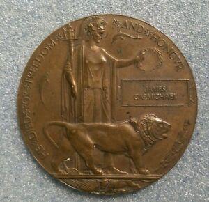 Australian WW1 Death/Memorial plaque. 28Bn. DOW 1916 France age 45. Nagambie Vic