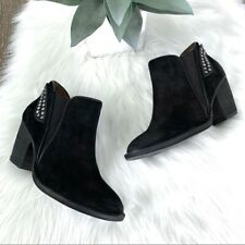 Jeffrey Campbell Women's Kabru Studded Distressed Suede Black Ankle Boot Size 6