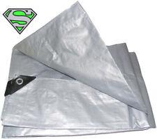 Silver H/duty Poly Tarp 16' X 20'