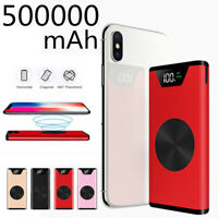 Power Bank 500000mAh Qi Wireless Charger Fast Charge Dual USB External Battery