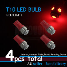 4x Red T10 5050 LED Park Parker Lights Globe For Ford Falcon AU BA BF FG XR6 XR8