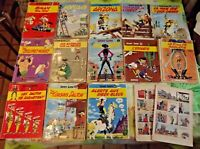 13 Ancien Albums LUCKY LUKE,Vintage dont Eo Dalton Billy le Kid 1962 ,1963 etc..