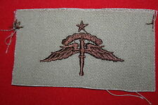 ORIGINAL US TAN DESERT SUBDUED CLOTH SPECIAL FORCES HALO WING BADGE GULF WAR