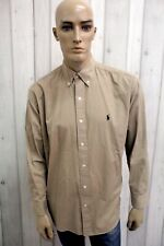 RALPH LAUREN Camicia Taglia 2XL Uomo Cotone Shirt Chemise Casual Manica Lunga