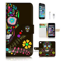 ( For iPhone 6 / 6S ) Wallet Case Cover P0760 Sugar Skull