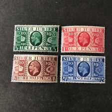 GREAT BRITAIN, SCOTT # 226-229(4), COMPLETE SET 1935 SILVER JUBILEE ISSUE MNH