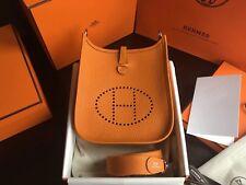 HERMES PARIS EVELYNE 16 TPM MINI BAG TAURILLON CLEMENCE ABRICOT NEW *BOX*