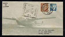1939 Horta Portugal to Lisbon First FLight Cover FFC Sage Cachet