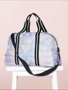Victoria's Secret Pink Quilted Tye Dye Duffle Bag NWT Limited Edition Rare HTF