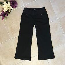 Gap maternity black pants hip slung fit women's size 6 #299