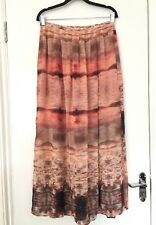 TOPSHOP TALL CHIFFON SIDE SLIT MAXI LONG SKIRT SIZE UK 12 EUR 40 ♡♡♡