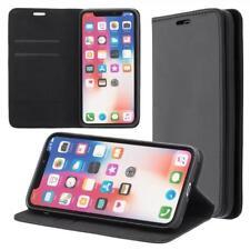 Apple iPhone X Cartera Funda Cover Flip Wallet Case bolsa Negro