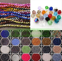 Free shipping 100pcs Crystal Glass Charms 3mm Bicone Loose Beads 102 colors