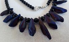 DRUZY TITANIUM CRYSTAL AGATE IRIDESCENT PURPLE QUARTZ GEODE NECKLACE