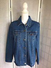 Lee Women's Blue Denim Button Front Long Sleeve Shirt W/ 2 Front Pockets