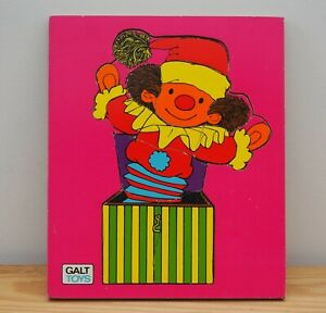 Galt Toys jigsaw puzzle vintage Jack in the Box wooden pink toy game 10 pieces