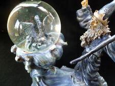 ~ Conjuring Wizard with dragon waterglobe ~ Mib ~ Unused ~ vintage 1998 Vandor