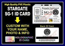 Stargate SG-1 ID Badge / Card Prop - PVC PLASTIC - Custom w/ Your Photo & Info