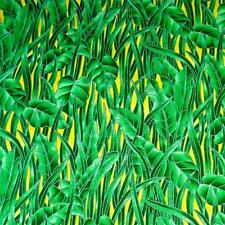 Cotton Fabric Per 1/2 Yard, Grass & Leaf Print, Green Landscape & Nature, by RJR