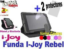 "FUNDA TABLET i-JOY REBEL 7"" UNIVERSAL GIRATORIA AJUSTABLE + 2 Protectores"